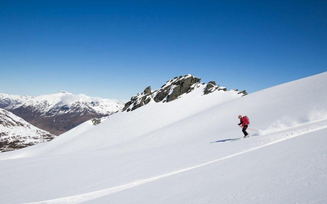 man skiing on the 3 Day Backcountry Ski Tour