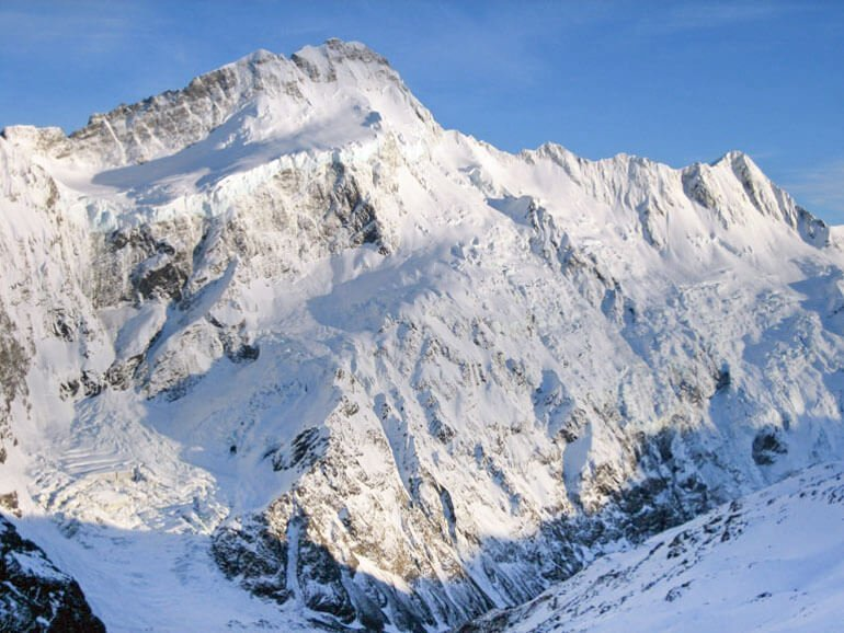 Mt Sefton New Zealand mountaineering expedition