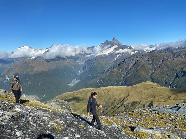 Heli-Hiking in the Mt aspiring area