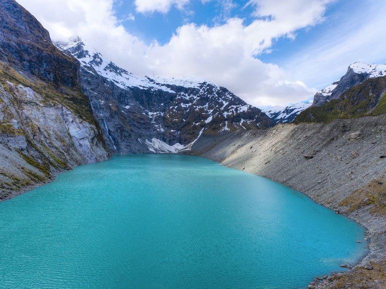 Hiking to a Glacial Lake Mt Aspiring national park