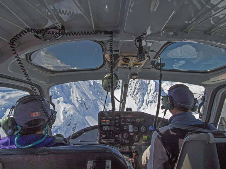 Flying into the Tasman Glacier at Mt Cook