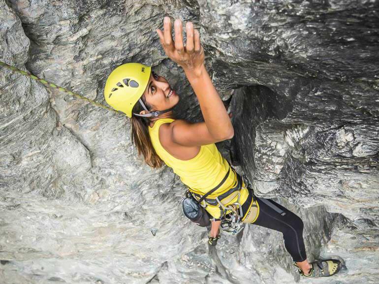 Outdoor climbing course, Wye Creek, Queenstown