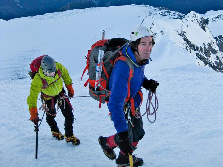Guided climb Mt Aspiring