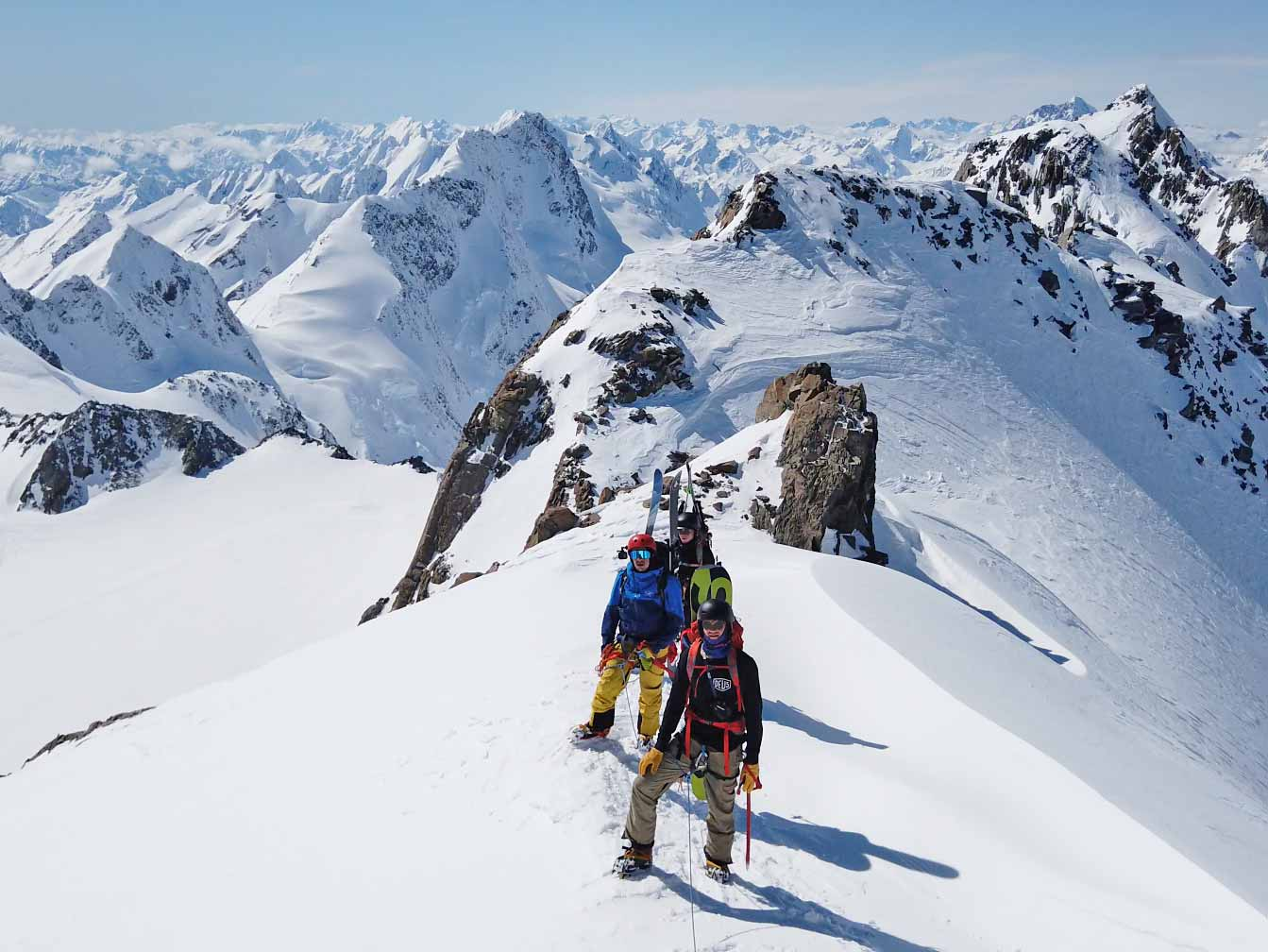 Man skiing downhill on a 3 Day Backcountry Skiing trip