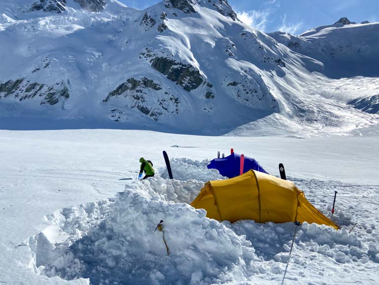 Camping in the Murchison Glacier