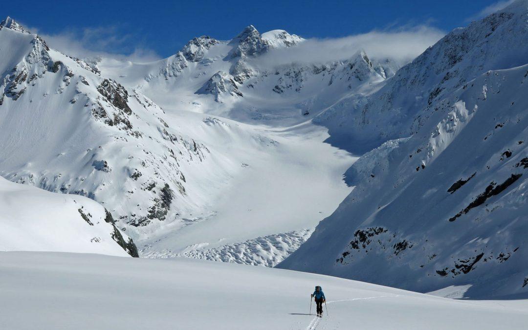 Ski touring Aida Glacier