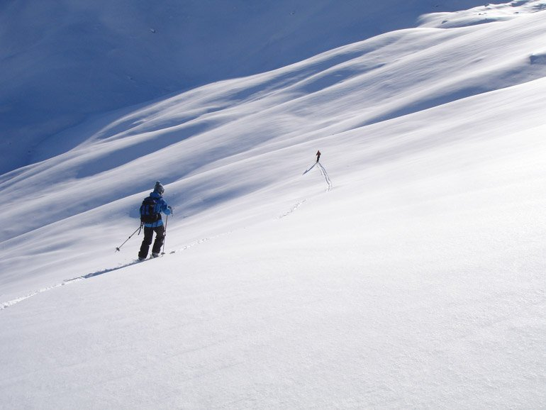 Spacing out in avalanche terrain