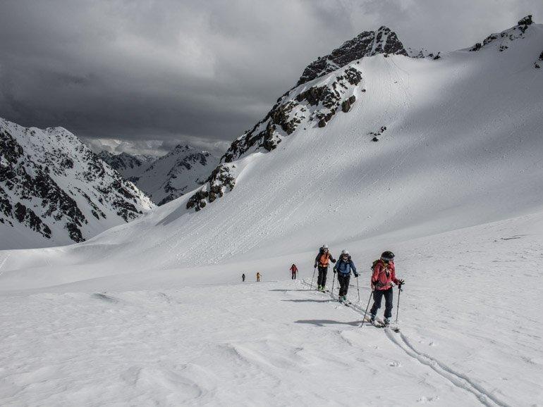 Ski tourers Cass Valley