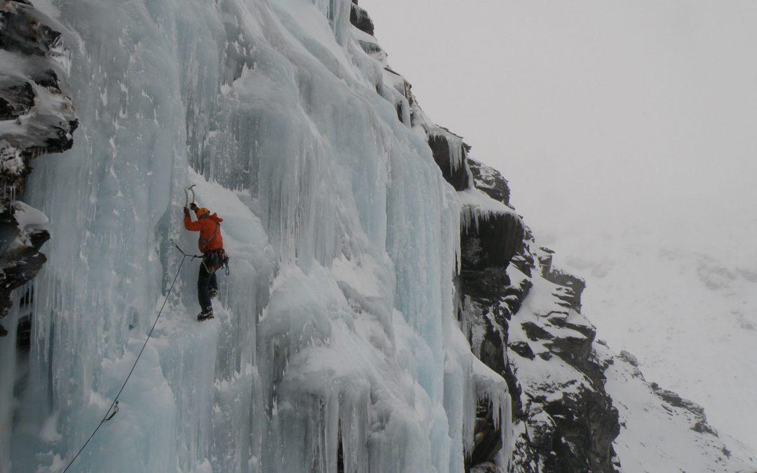 ice climbing at wye creek
